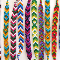 Friendship Bracelets Thin Woven Bracelets 10 PACK by sweetllamasupplies