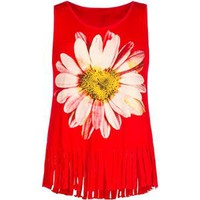 FULL TILT Daisy Girls Fringe Tank