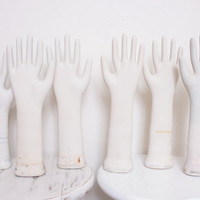 Vintage Porcelain Glove Hand Mold For Displaying Jewelry, 4 Available