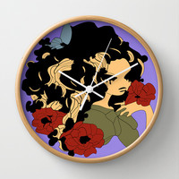 Druidess Wall Clock by Texnotropio | Society6
