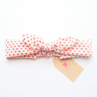 Happy Bunny bow headband kids size dotty heart dot :) party dress retro chic vintage love factory