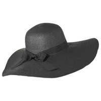 Merona® Floppy Hat with Black Bow Sash - Black