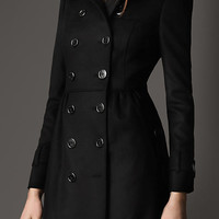 Long Fur Collar Trench Coat