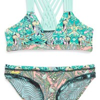 Maaji 'Minty Madness' Reversible Two-Piece Swimsuit (Little Girls & Big Girls) | Nordstrom