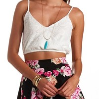 Crochet Surplice Crop Top