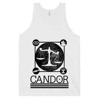 Candor on a White Tank Top