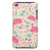 Elegant Cute Pink Flower Pattern iPod Touch Case