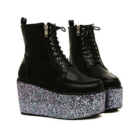 Glizan Glitter Platform Boots (SOLD OUT)