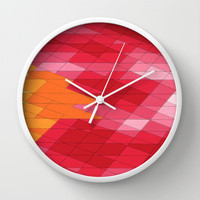 Rosey Abstract  Wall Clock by DuckyB (Brandi)
