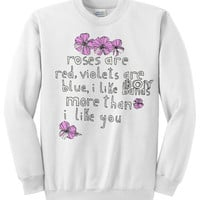 Boy Band Poem Crewneck Sweater