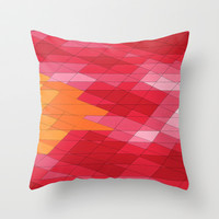Rosey Abstract  Throw Pillow by DuckyB (Brandi)