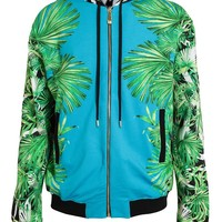 VERSUS | Tropical Zebra Printed Cotton Zip Hoodie | Browns fashion & designer clothes & clothing