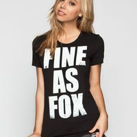 Fox Blown Out Womens Tee Black  In Sizes