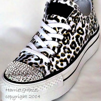 Converse Chuck Taylor® All Star® Platform in Cheetah print with Swarovski crystal details