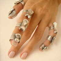 Silver Finger Bone Ring Osseous Jewelry by sofiasanchezb on Etsy