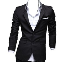 Zeagoo Men's Casual Dress Slim Fit Stylish Suit Blazer Coats Jackets