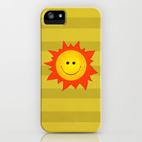 Smiling Happy Sun iPhone & iPod Case by Boriana Giormova | Society6