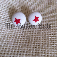 Counting Stars Cover Button Earrings