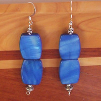 Blue Dangle Earrings Drop Earrings Elegant Jewelry