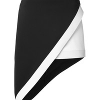 David Koma Asymmetric Monochrome Skirt