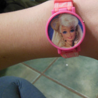 opening Vintage Barbie watch