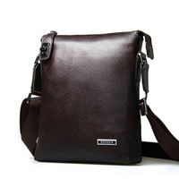 Men's Messenger Leather Zipper Hasp Vertical Bags by martEnvy