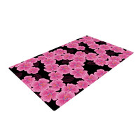 "Julia Grifol ""Pink on Black"" Woven Area Rug"