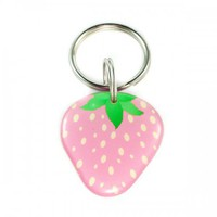 Pink Strawberry Pet Id Tag | metamorphdesigns - Pets on ArtFire