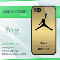 air jordan gold case, iphone case, iphone 4 case iphone 5c case, samsung gaxaly S3 case, samsung gaxaly S4 case