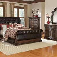 Lafayette II Pecan Bedroom Collection | Furniture.com