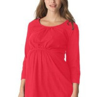 Scoop-neck maternity tee