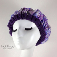 Hot Head Cordless Deep Conditioning Heat Cap - Hair Conditoner Treatment - Purple Haze Dark Purple Reversible