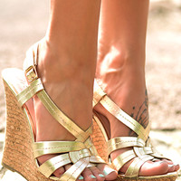 The Shine Bright Wedge, gold