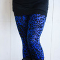 Carrie's Closet - Royal Blue Leopard Leggings