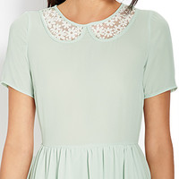 Daisy Lace Collared Dress