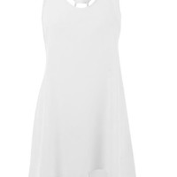 Naomi White 10 Dipped Hem Strappy Top at Fashion Union