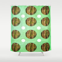 Greens Shower Curtain by DuckyB (Brandi)