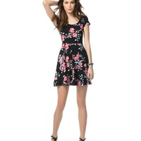 DITSY FLORAL SCOOP NECK DRESS