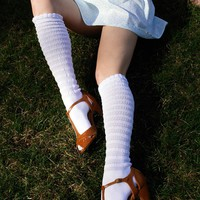 Darling Ribbed Knee High Socks