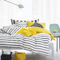 H&M - Twin Duvet Cover Set - Yellow