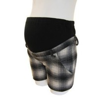 Plaid Maternity Shorts