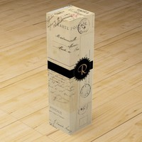 French Postcards Monogram Wine Gift Box