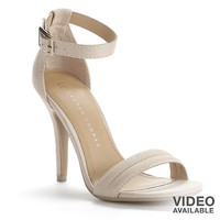 LC Lauren Conrad Black Strappy Dress High Heels - Women