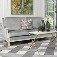 Global Views Furniture Lille Gray Sofa