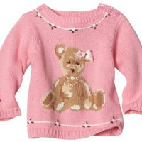 Hartstrings Baby-Girls Newborn Long Sleeve Bear Sweater