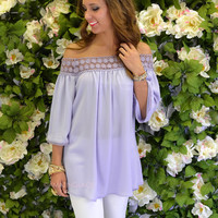 Breezy Point Lilac Crochet Tunic