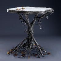 Occasional Table by Bill Masterpool: Metal Marble Table | Artful Home