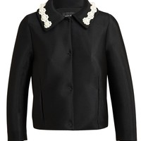 SIMONE ROCHA | Coated Mesh Embellished Jacket | Browns fashion & designer clothes & clothing