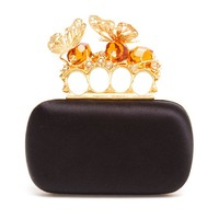 ALEXANDER MCQUEEN | Knuckle Duster Satin Box Clutch | Browns fashion & designer clothes & clothing