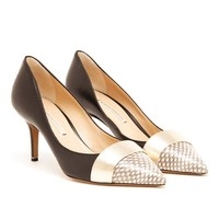 NICHOLAS KIRKWOOD | Watersnake and Leather Pumps | Browns fashion & designer clothes & clothing